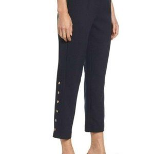 NEW J.O.A. Gold snap side ankle cropped pants navy